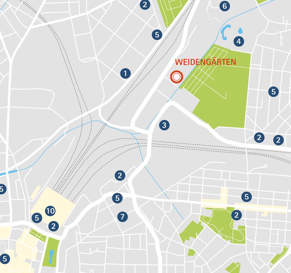 Wohnung kaufen in Leipzig Karte