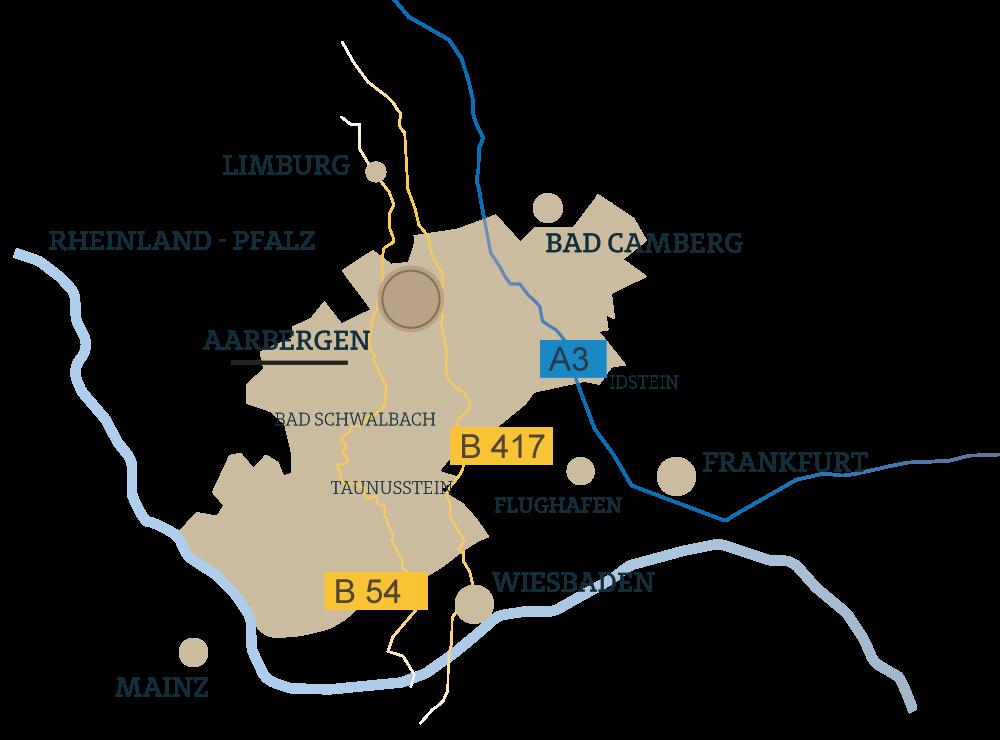 Aarbergen Hochstrasse Karte