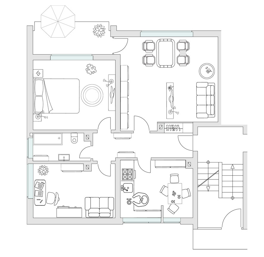 Haus 4 - WE 01 - EG