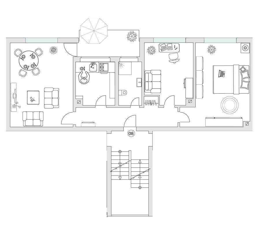 Haus 12 - WE 08 - 2. OG - links