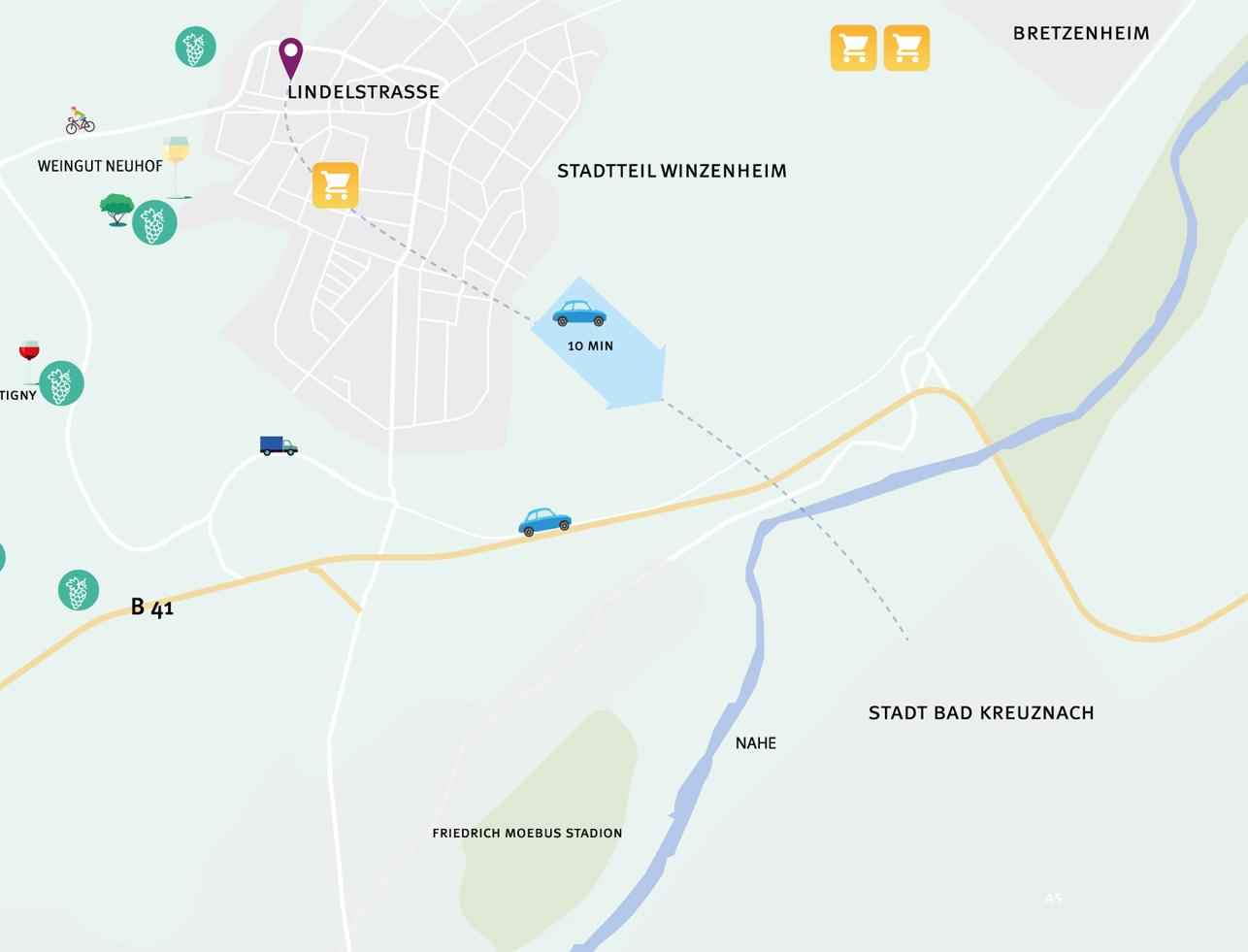 Wohnung kaufen in Bad Kreuznach Karte