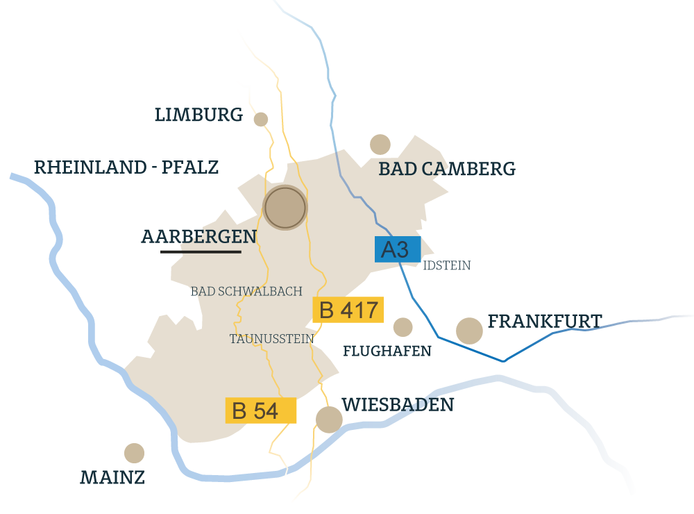 Aarbergen Heidestrasse Karte
