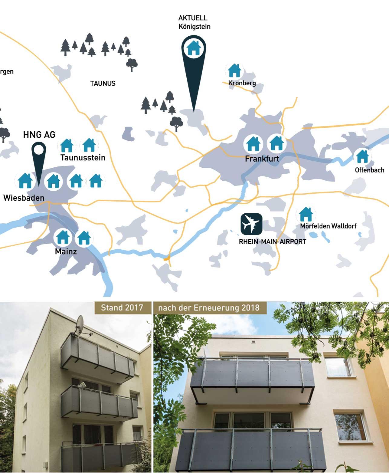 Wohnung kaufen in Königstein Karte