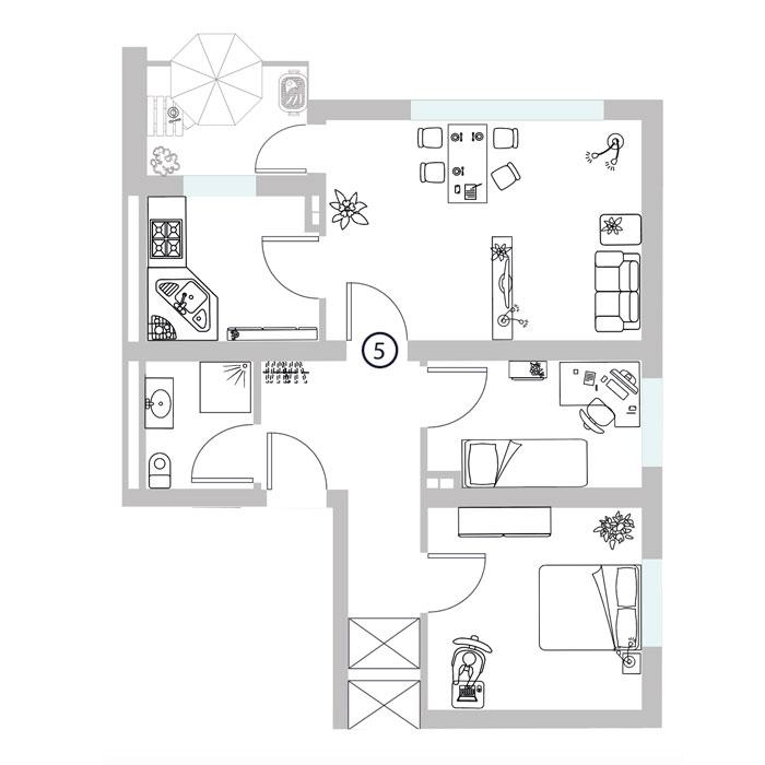 4 Zimmer- Wohnung