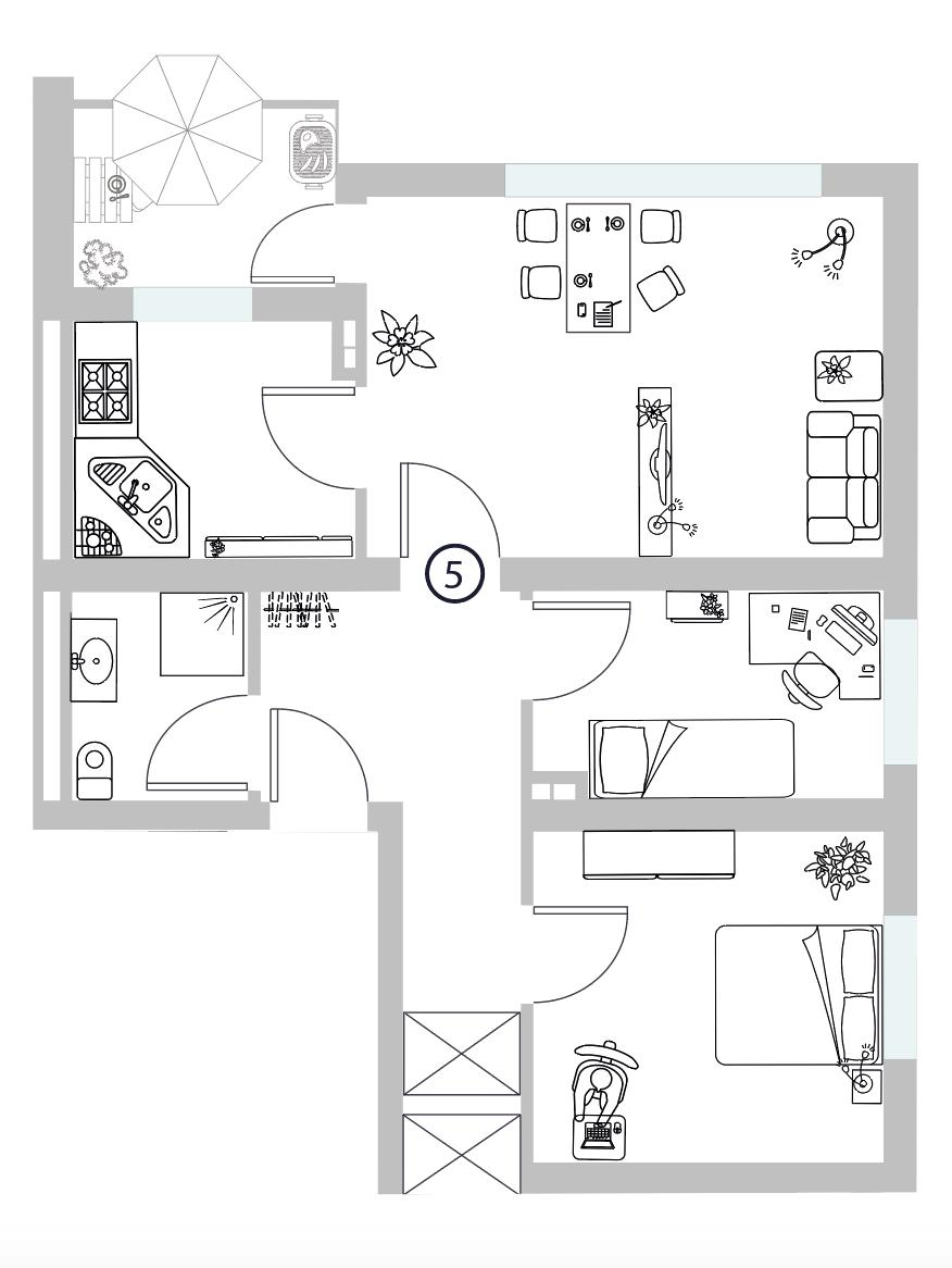 WE 05 I 1. Obergeschoss I 3 Zimmer - Wohnung