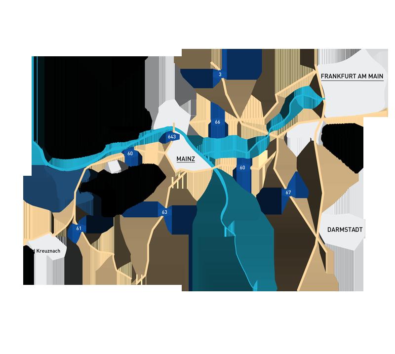 Wohnung kaufen in Bingen Karte