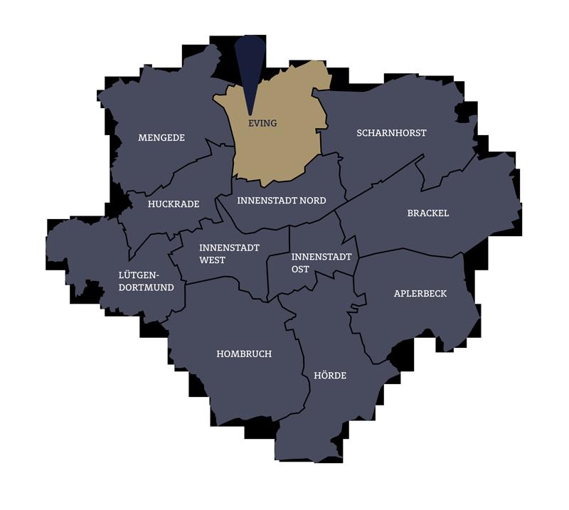 Wohnung kaufen in Dortmund Karte
